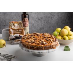 Küpsetamata õunakook kaarobi ja maapähklivõiga